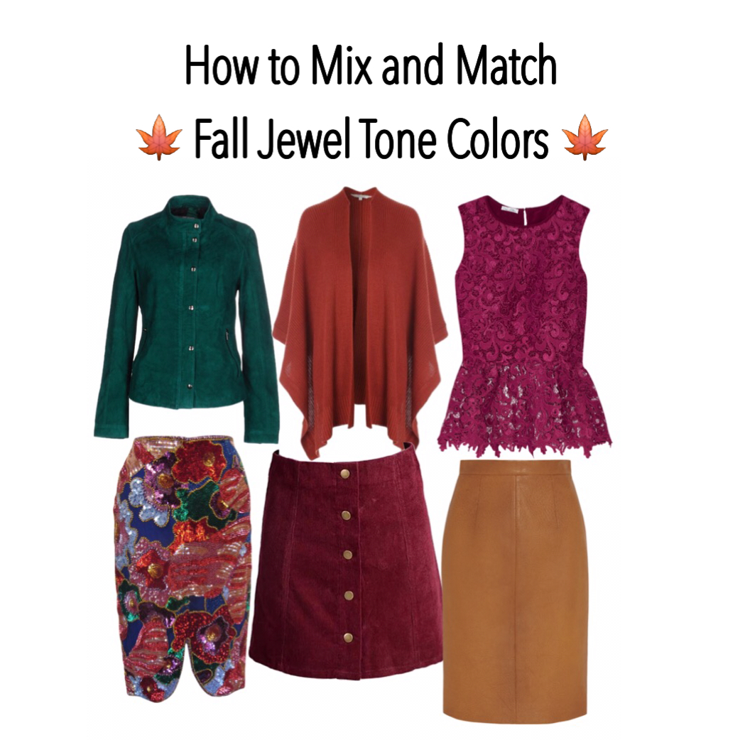 How to mix and match fall colors jewel tone colors for How to combine colors